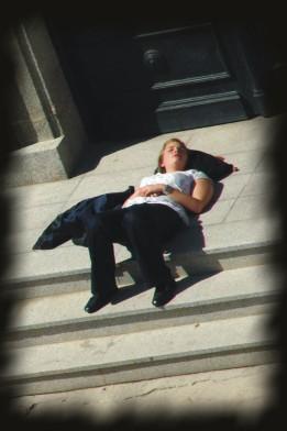 Foto de una joven tumbada, de Josean de Miguel